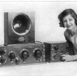 girl with radio equipment